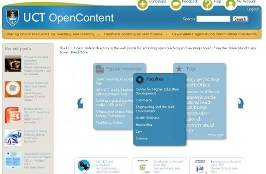 First two weeks of OpenContent at UCT
