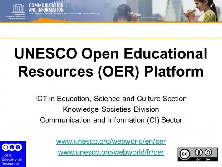 UNESCO OER Platform - external