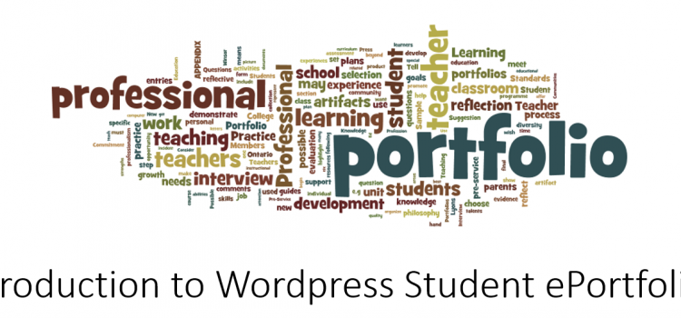 Supporting Student ePortfolios using WordPress